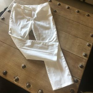 Tory Burch white crop jeans 31